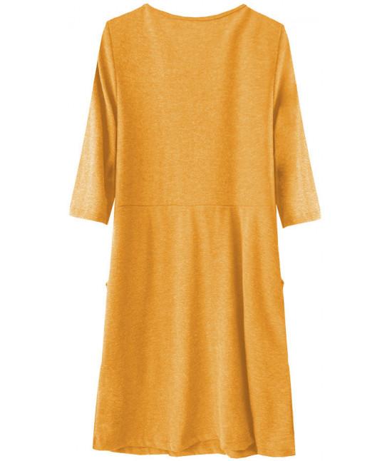 f5ffe5376599 Dámske ležérne šaty MODA220 horčicové - Dámske oblečenie