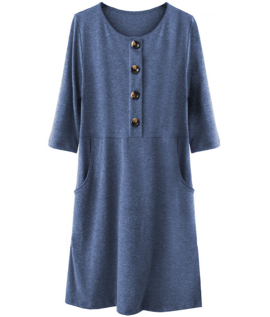 2ec545df1a13 Dámske ležérne šaty MODA220 tmavomodré - Dámske oblečenie
