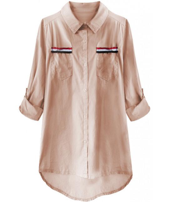 Dámska bavlnená košeľa MODA232 staroružová
