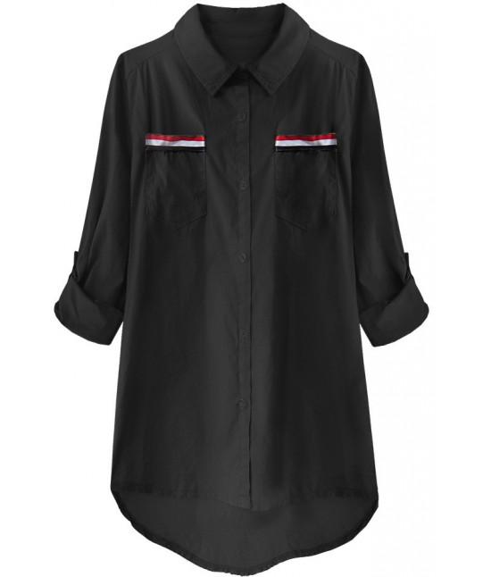 Dámska bavlnená košeľa MODA232 čierna