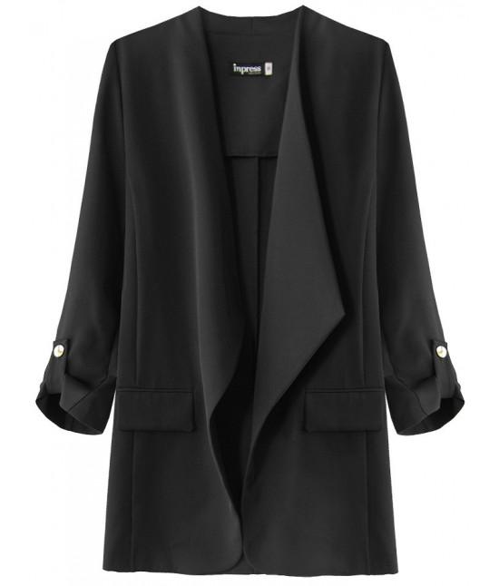 Dámsky kabátik s 3/4 rukávmi MODA268 čierny