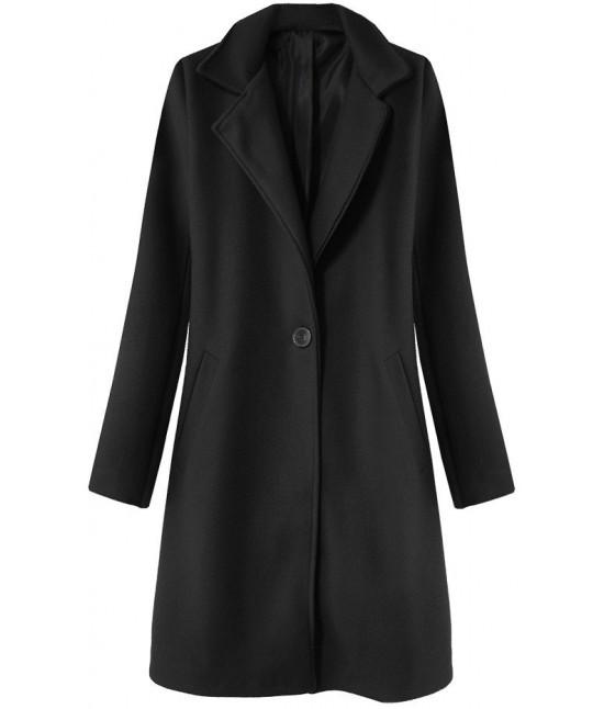 Dámsky jarný kabát MODA106 čierny - Dámske oblečenie  f67cf2a28e1