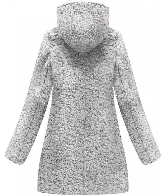 5a469dedf8 Dámsky asymetrický kabát MODA174 šedý veľkosť M - Dámske oblečenie ...