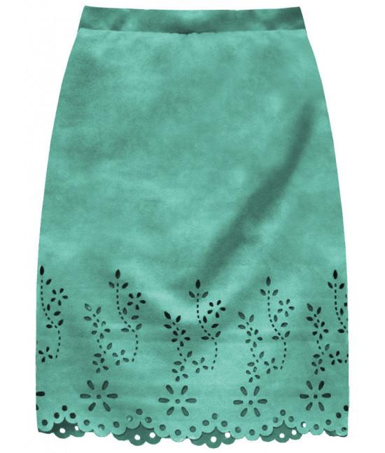Dámska zamatová sukňa MODA229 mätová