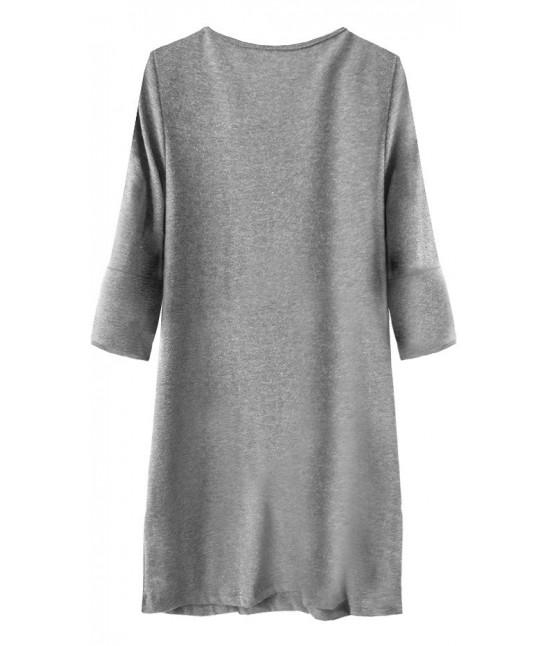 a8cc7a2b825c Dámske ležérne šaty MODA233 šedé - Dámske oblečenie