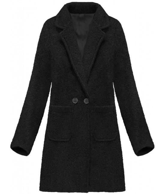 Dámsky vlnený kabát MODA179 čierny