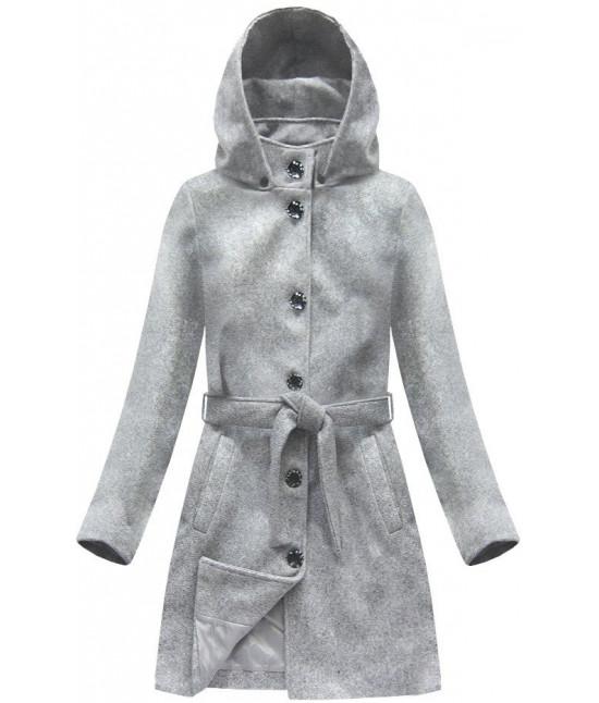 1cf46765db Dámsky kabát s kapucňou MODA798 šedý veľkosť XL - Dámske oblečenie ...