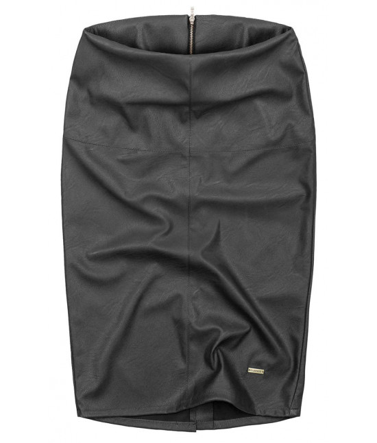 817816ab450b Dámska sukňa z eko-kože MODA112 čierna - Dámske oblečenie