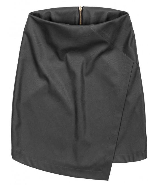 Dámska sukňa z eko-kože čierna MODA111