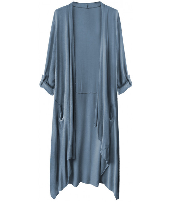 Tenký dámsky kardigan MODA248 modrý 2