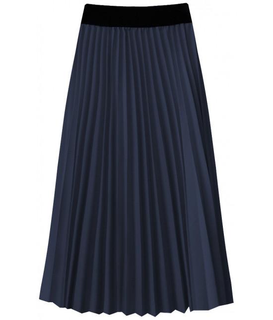 Dámska plisovaná midi sukňa MODA201 tmavomodrá