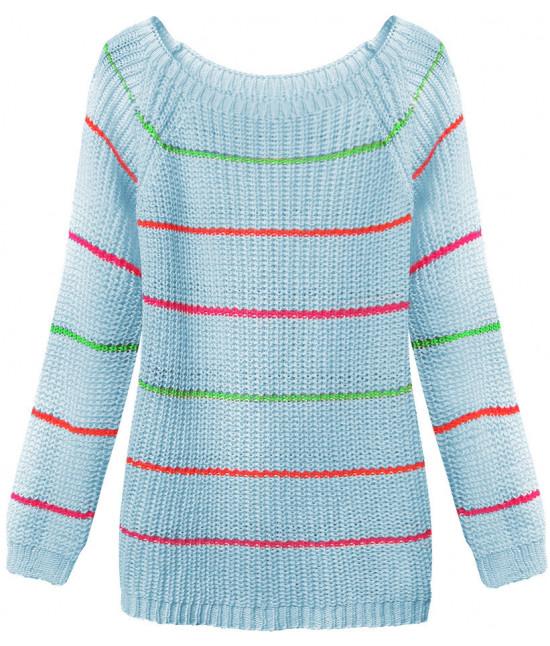 Dámsky sveter MODA275 modrý