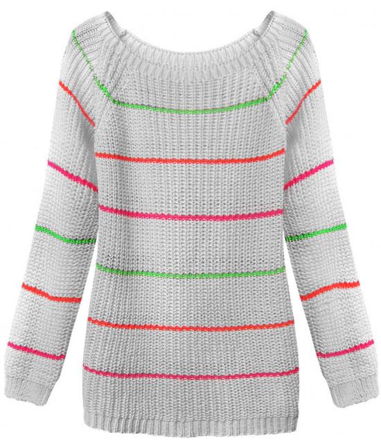 Dámsky sveter MODA275 šedý