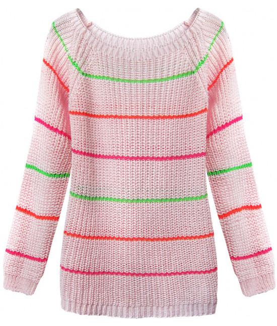 Dámsky sveter MODA275 ružový