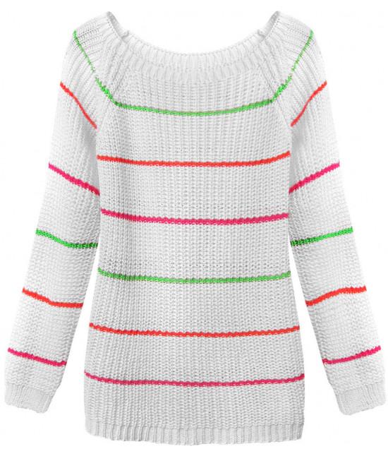 Dámsky sveter MODA275 biely
