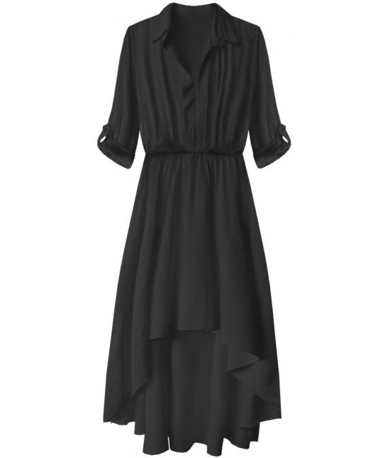 5bed81c8217b Dámske bavlnené asymetrické šaty čierne MODA277 - Dámske oblečenie ...