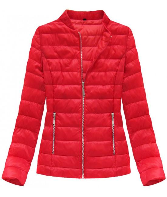 Dámska jarná bunda MODA605 červená veľkosť XL 2e320e9fb30