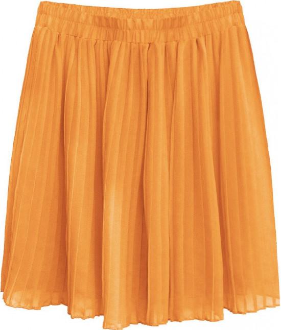 Dámska plisovaná mini sukňa MODA227 pomarančová 1