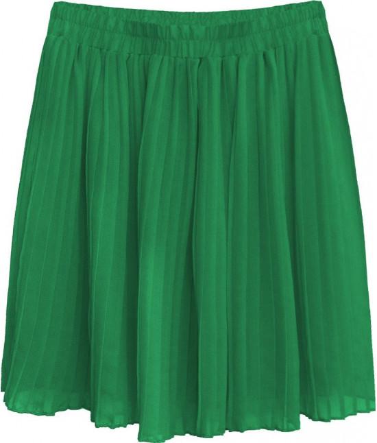 Dámska plisovaná mini sukňa MODA227 zelená