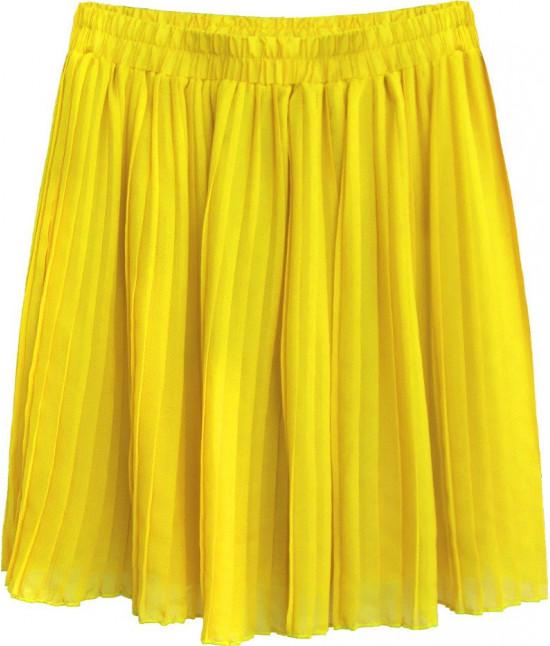 Dámska plisovaná mini sukňa MODA227 žltá