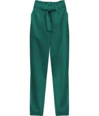 damske-nohavice-s-viazanim-v-pase-moda295-zelene