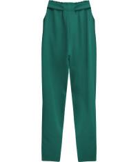Dámske nohavice s viazaním v páse MODA295 zelené