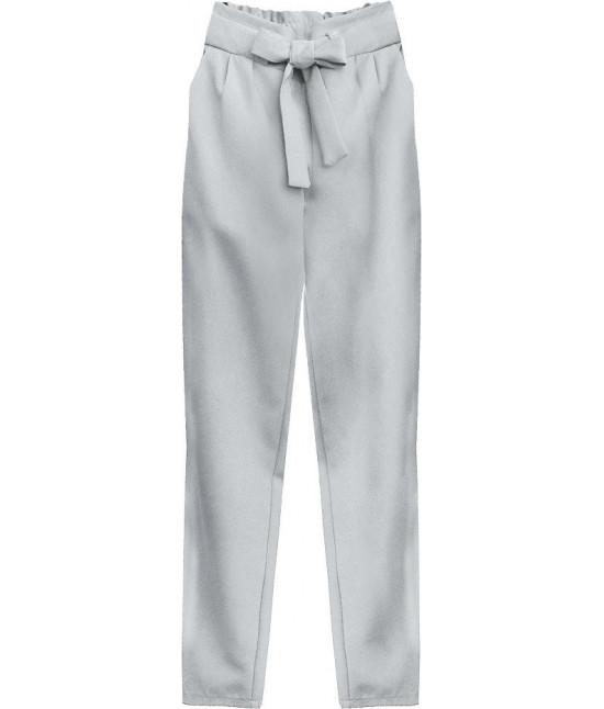 Dámske nohavice s viazaním v páse MODA295 šedé