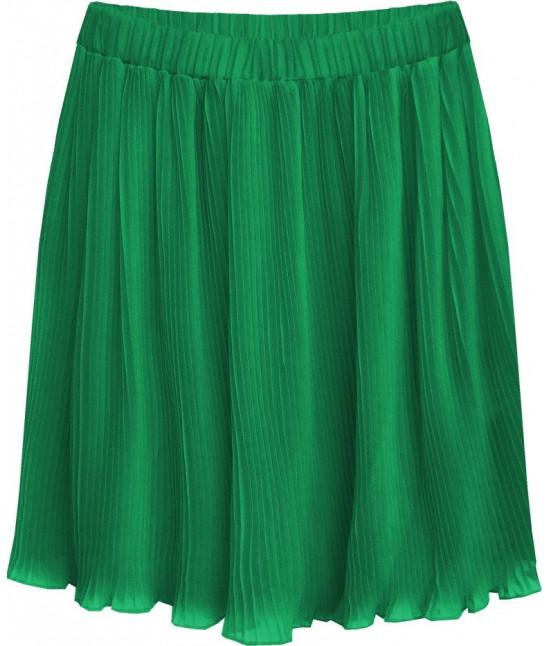 Dámska plisovaná mini sukňa MODA229 zelená