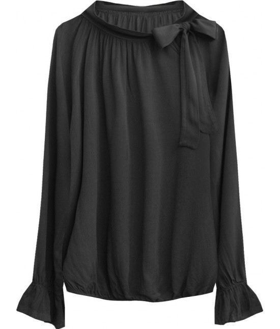 Dámska bavlnená blúzka MODA298 čierna