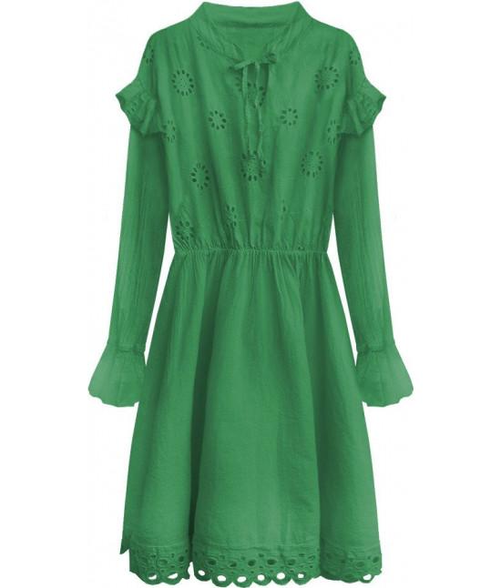 90bb716110ae Dámske bavlnené šaty MODA303 zelené - Dámske oblečenie