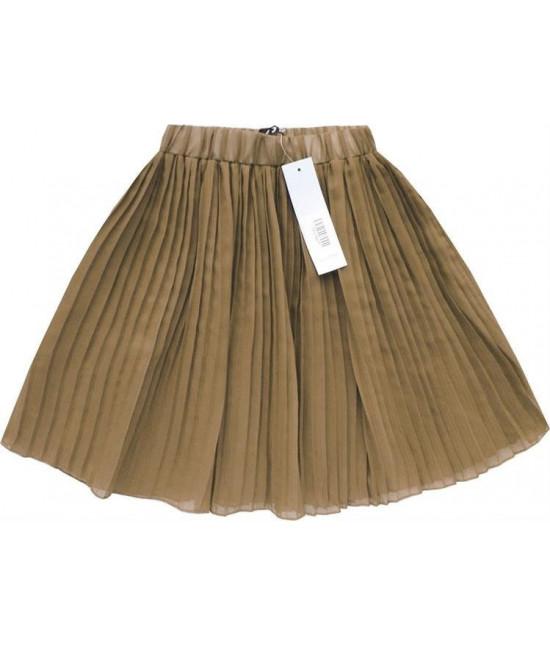 Dámska plisovaná mini sukňa MODA227 béžová
