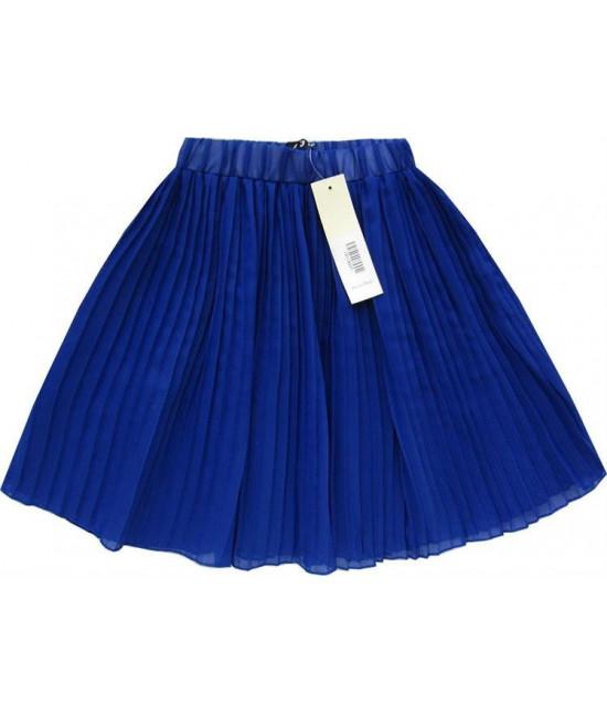 Dámska plisovaná mini sukňa MODA227 modrá