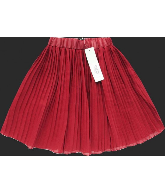Dámska plisovaná mini sukňa MODA227 korálová