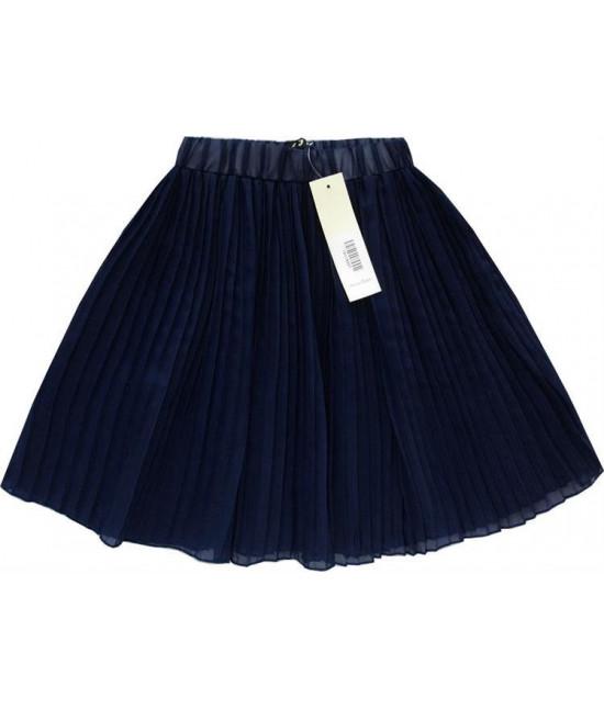 Dámska plisovaná mini sukňa MODA227 tmavomodrá