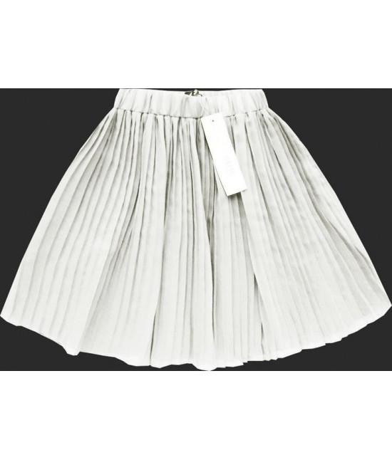 Dámska plisovaná mini sukňa MODA227 biela