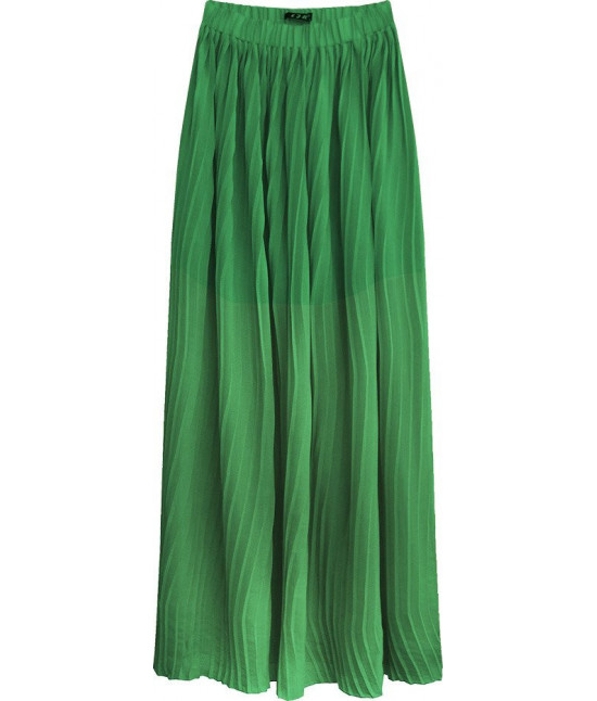Plisovaná maxi sukňa MODA237 zelená