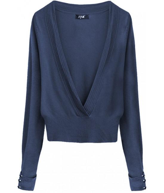 Dámsky sveter MODA117 tmavomodrý