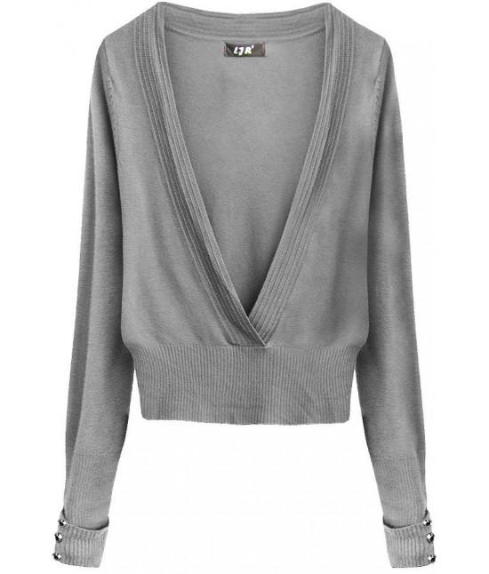 Dámsky sveter MODA117 šedý