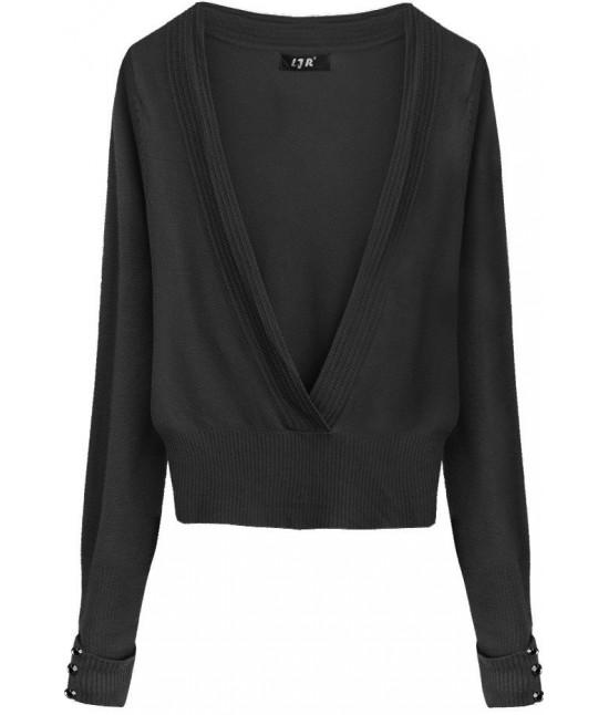 Dámsky sveter MODA117 čierny