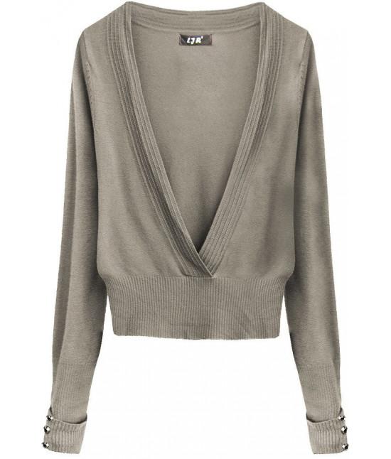 Dámsky sveter MODA117 kakaový