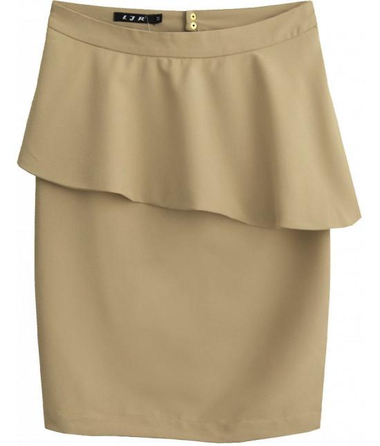 Dámska sukňa s volánom MODA141 bežová