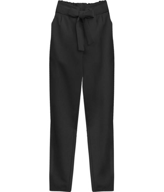 Dámske nohavice s viazaním v páse MODA295 čierne