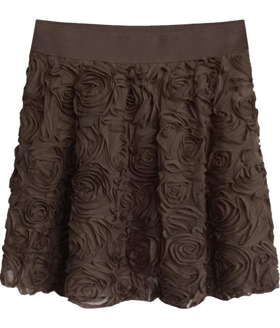 Krátka dámska sukňa MODA229 hnedá