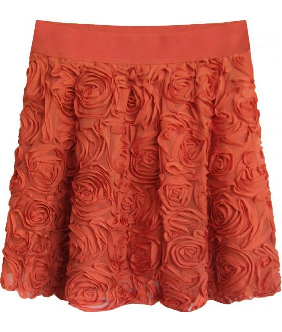 Krátka dámska sukňa MODA229 červená