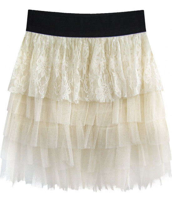 Dámska sukňa MODA312 ecru