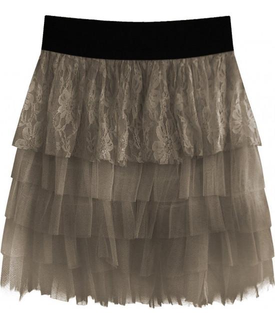 Dámska sukňa MODA312 kakaová
