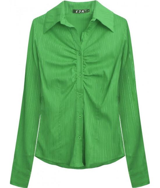 Elegantná dámska košeľa MODA084 zelená