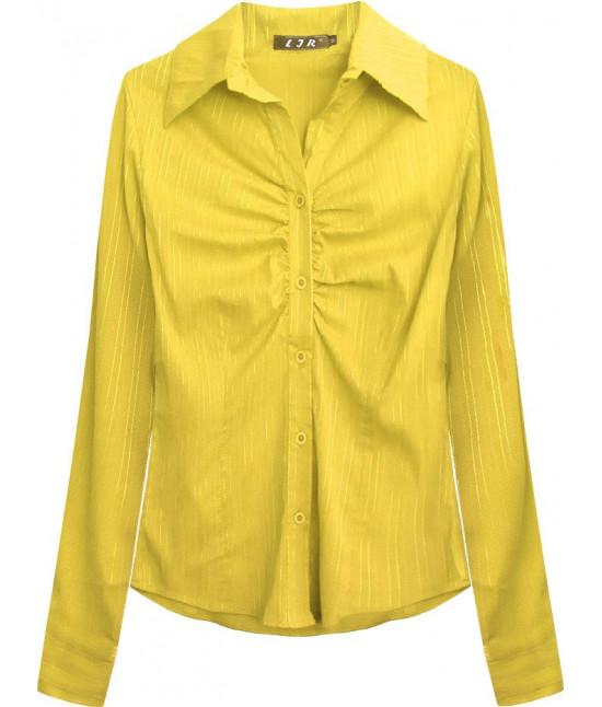 Elegantná dámska košeľa MODA084 žltá