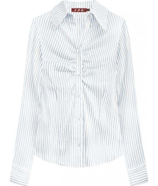 Elegantná dámska košeľa MODA084 bielo-fialová