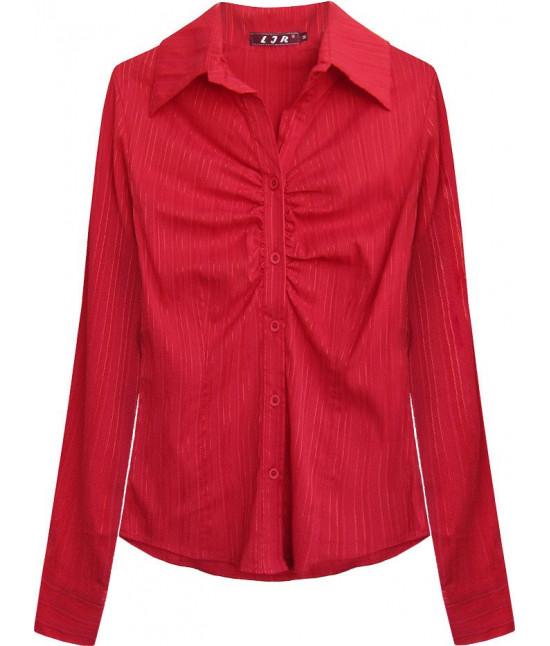Elegantná dámska košeľa MODA084 červená